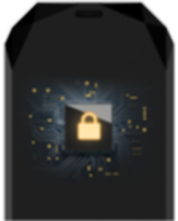 CryptoChip encripted chip TEMEXE X Bluetooth Cryptocurrency Hardware Wallet with App outToken on Smartphone