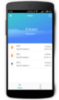 TEMEXE X Bluetooth Cryptocurrency Hardware Wallet with App outToken on Smartphone