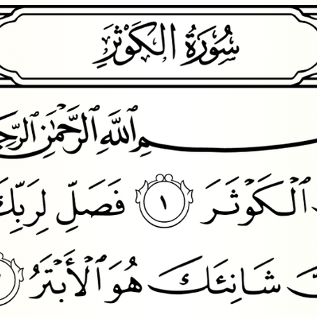 Lessons from Sūrah 108 – Sūrat Al-Kawthar