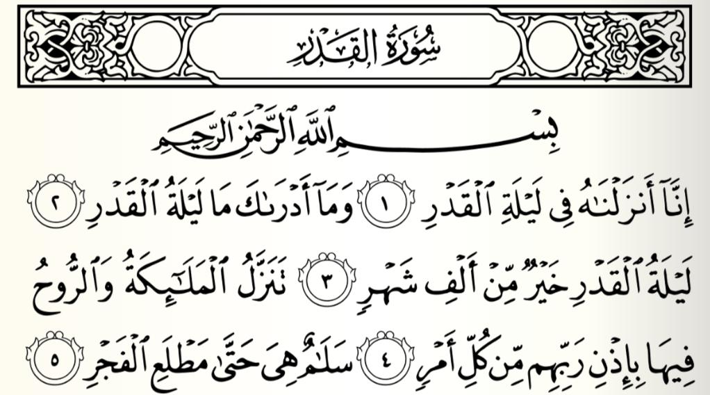 Lessons From Sūrah 97 Sūrat Al Qadr