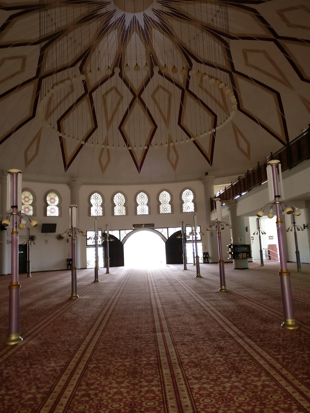 The Penang Floating Mosque or Masjid Terapung Pulau Pinang, Malaysia