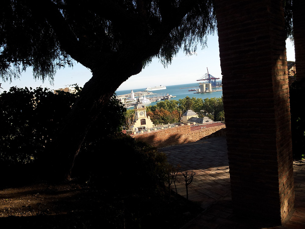 From within the Alcazaba Fortress, Malaga, Spain