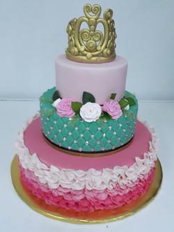 tiara pastel de xv años