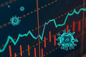 Graphs representing the stock market cra
