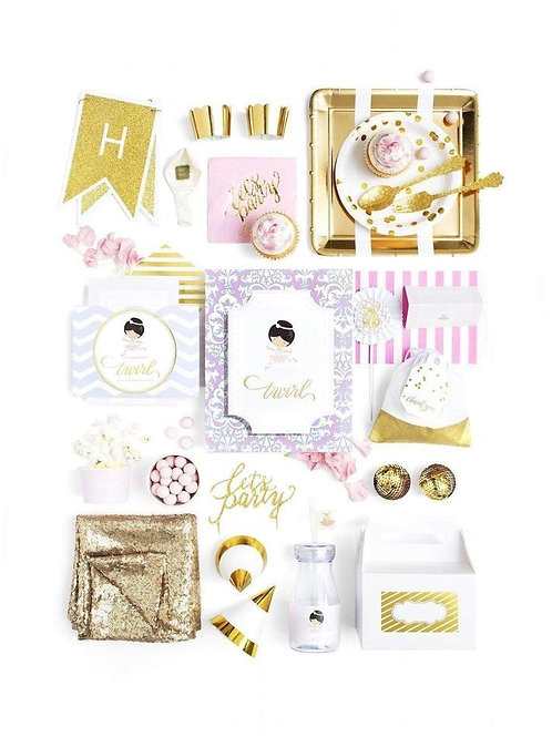 Ballerina Party Birthday Box - The Luxe designed for a party of 8