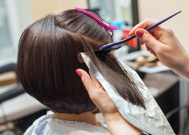 Foil Hair Color & Haircut