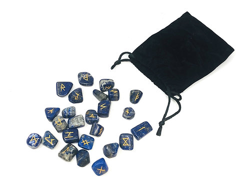 Lapis Lazuli Rune stone set