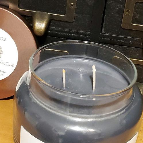 The Hallowed Oak 8 oz black soy Candle