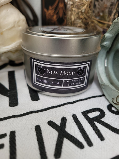 New Moon Spell Jar Candle