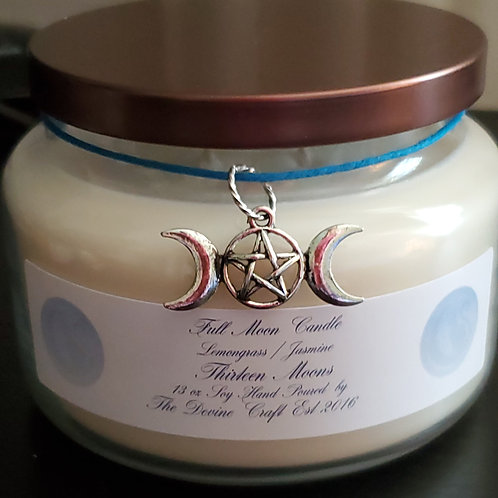 13 Moons 13 oz soy  jar spell candle