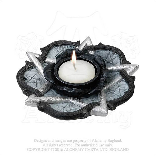 Pentagram and Rose T-Light