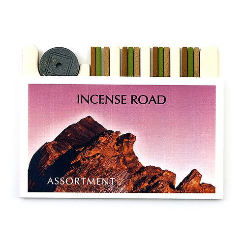 Incense Road 12-Stick Assortment - Frankincense, Sandalwood, & Chai