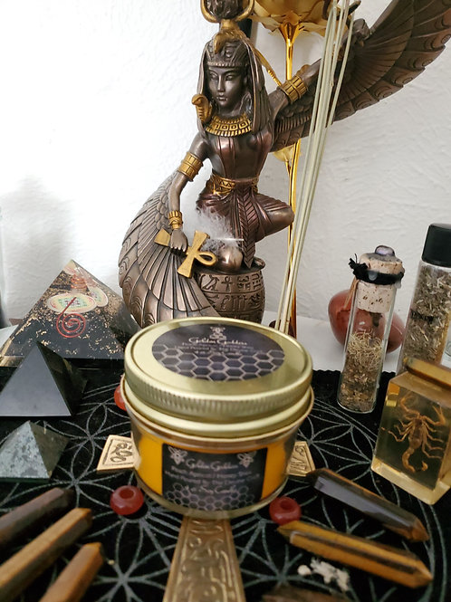 Golden Goddess 4 oz jar spell soy candle