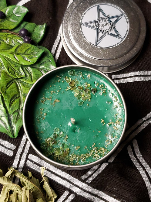 Great Horned God 4 oz soy jar spell candle