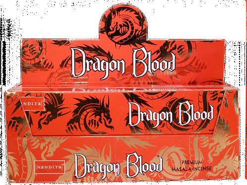 Nandita Dragon Blood 12  Incense Sticks