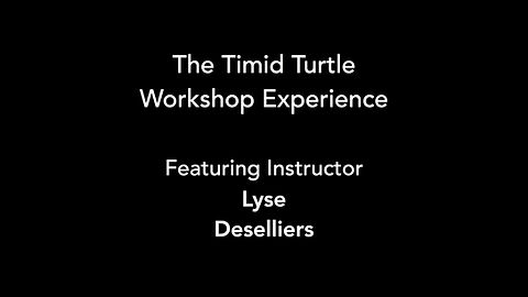 The Timid Turtle workshop experience, as shown in class led by award-winning instructor Lyse Deselliers