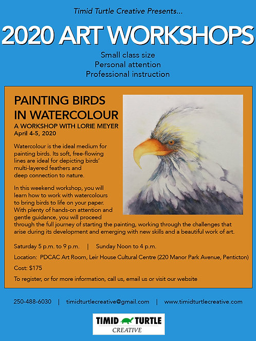 Date TBD Workshop - Painting Birds in Watercolour