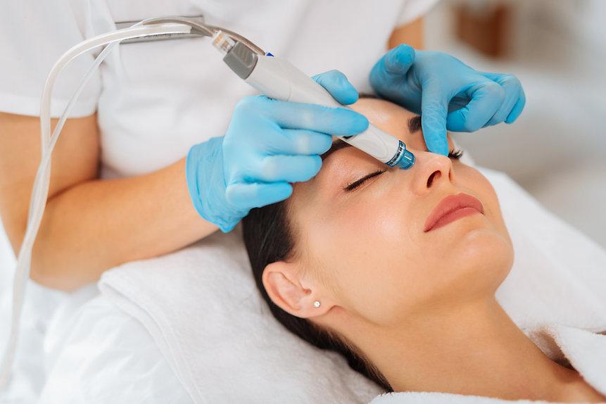 Cleansing procedure. Nice pretty woman l