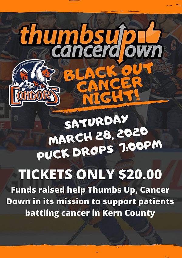 Orange Dark Grey Photo Hockey Poster.jpg