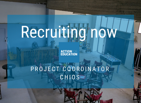 We are recruiting a coordinator with a refugee background on Chios