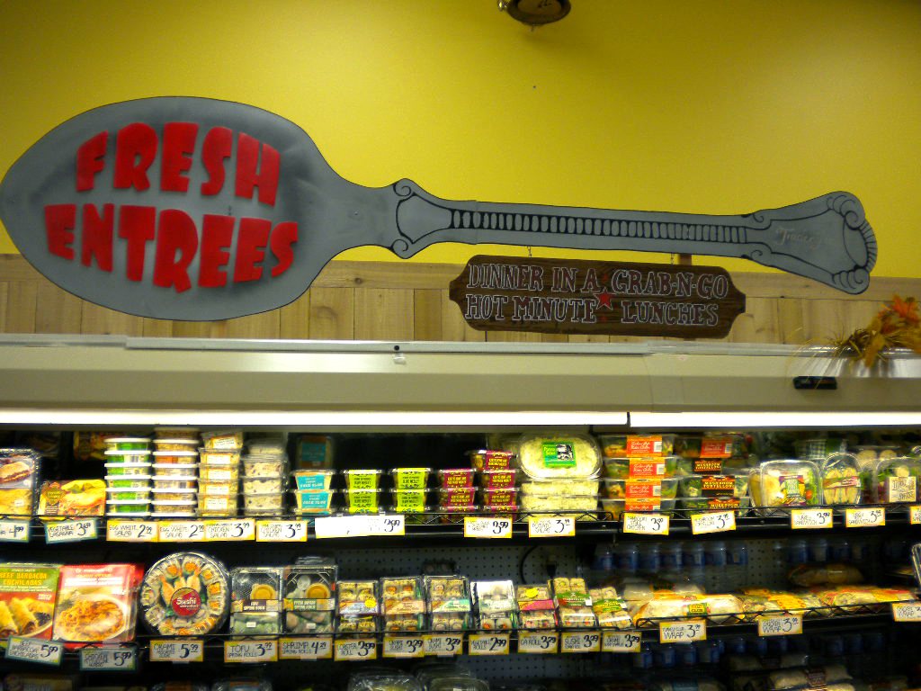 Grocery Section Sign