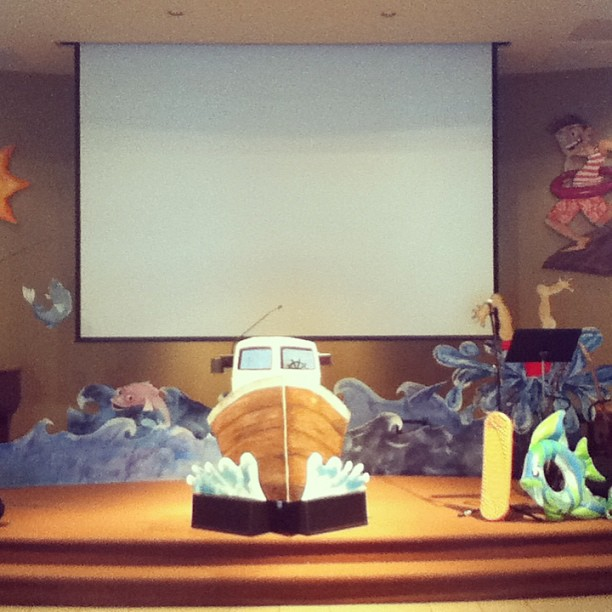STAGE DISPLAY FOR VBS
