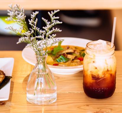 Thai Iced Tea & Duck Curry