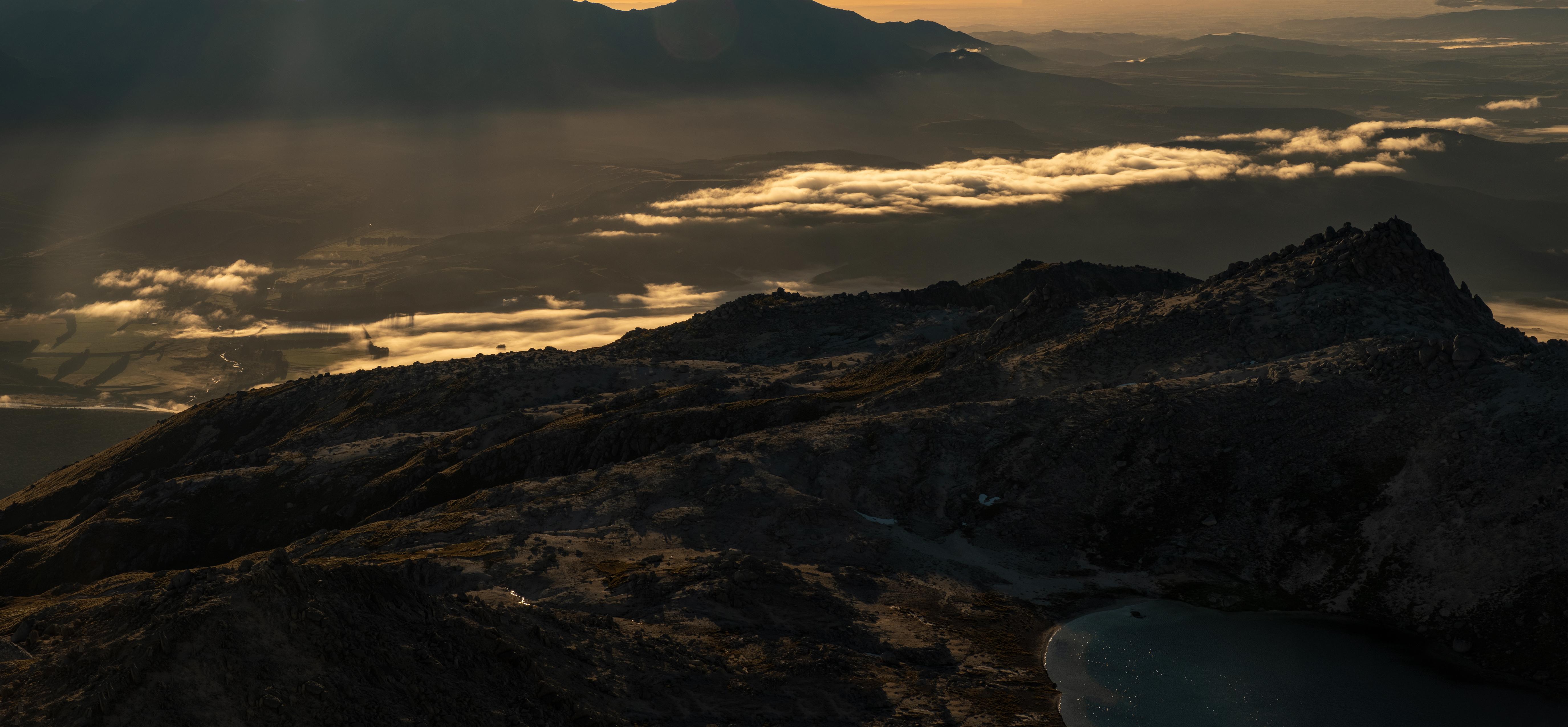 Mt.Titiroa Summit Sunrise pano