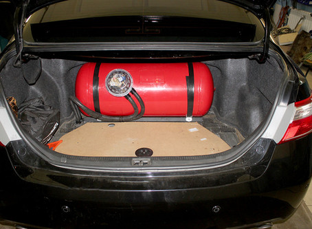 Ставим цилиндрический баллон в Camry XV40