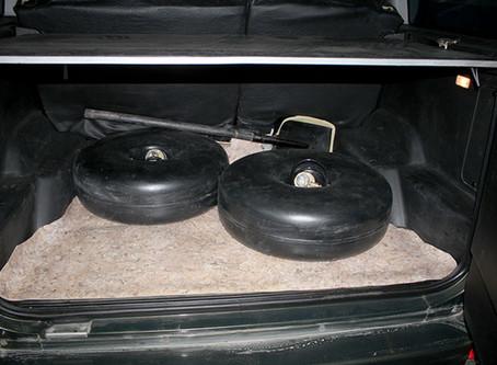 Размещение 2х тороидальных баллонов на УАЗ Патриот