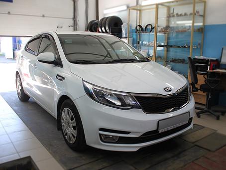 Новенький Kia Rio III поколение переводим на ГАЗ.