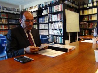 مناقشة رسالة الماجستير للطالب جليل محمد الساعدي