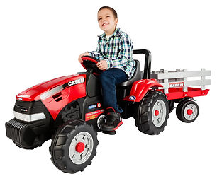 Case IH (pedal) Tractor & Trailer boy wh