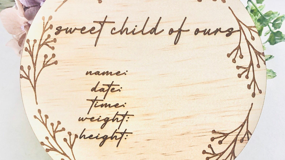 Sweet child of ours - Birth announcement