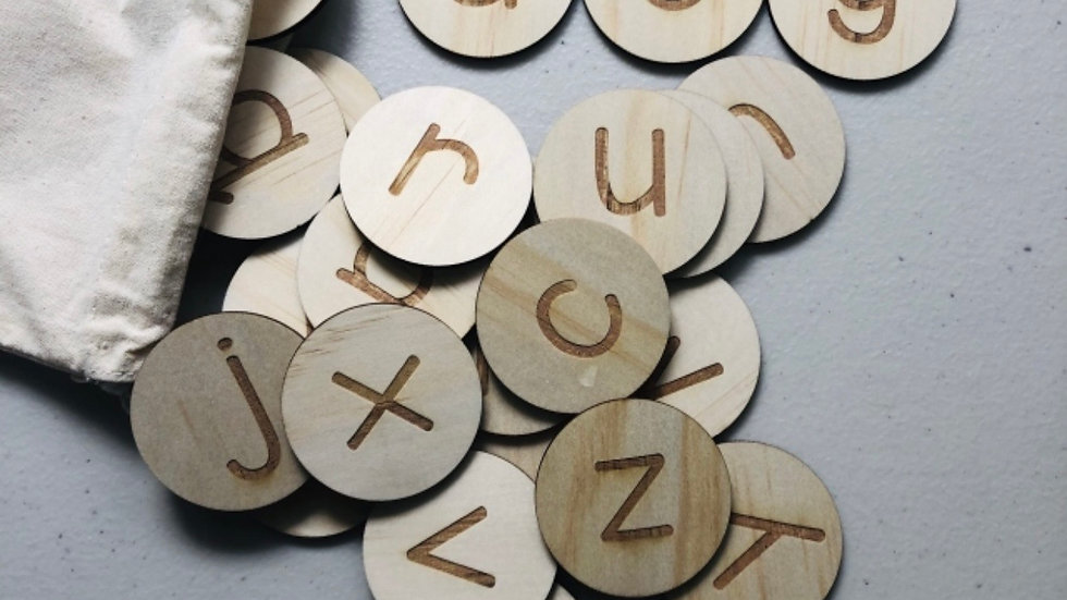 Timber Tinkers - Alphabet Set, Wooden learning discs