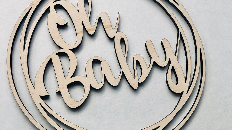 'Oh Baby' Cake topper