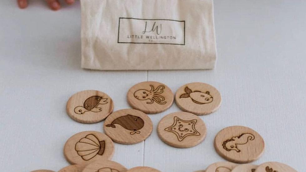 LittlewellingtonCo - Wooden Memory Games