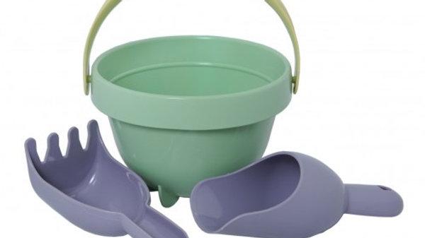 Plasto I AM GREEN - Baby bucket set, 3 piece set