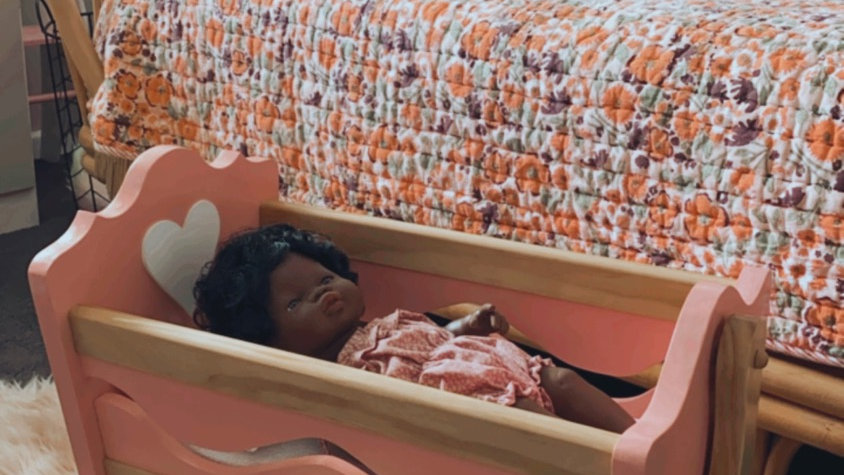 Handmade Wooden Dolls cradle (Local pickup only)
