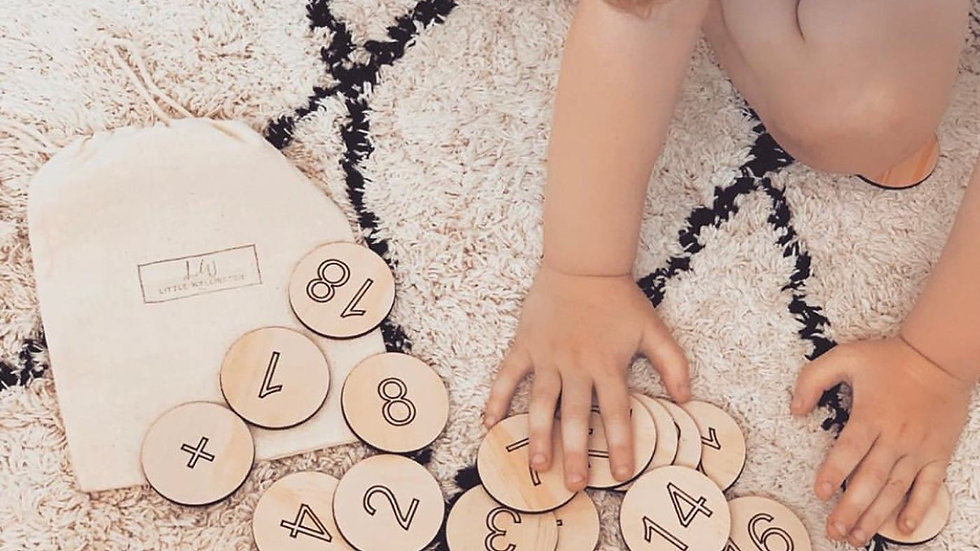 LittlewellingtonCo - 1-20 Wooden Number Disc set