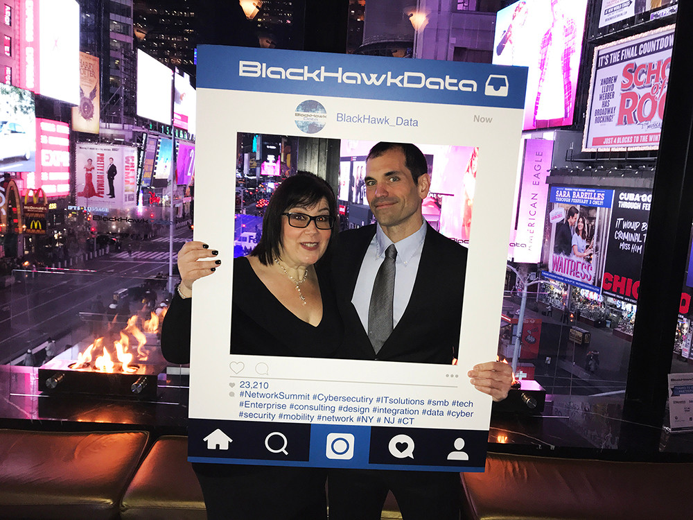BlackHawk Data Launch Event in Times Square New York January 2019