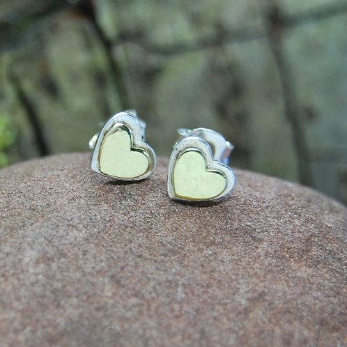 Pure Origins Sterling Silver Heart Stud Earrings
