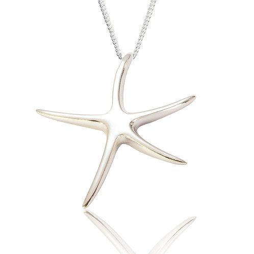 Seodra Sterling Silver Starfish Necklace