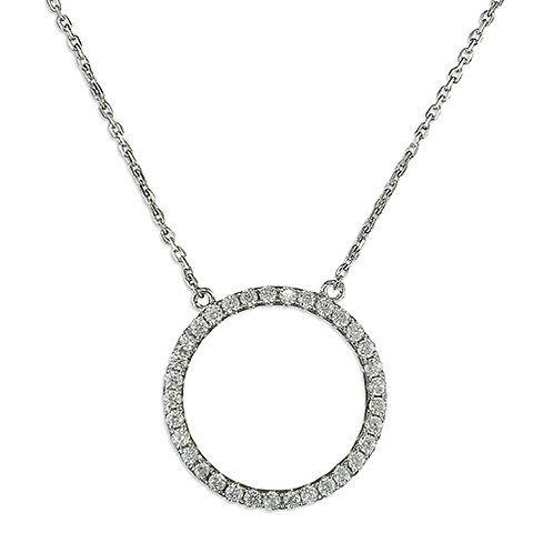 Seodra Sterling Silver & Cubic Zirconia Circle of Life Necklace