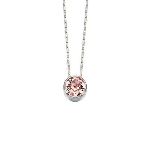 Rose Swarovski Crystal Necklace