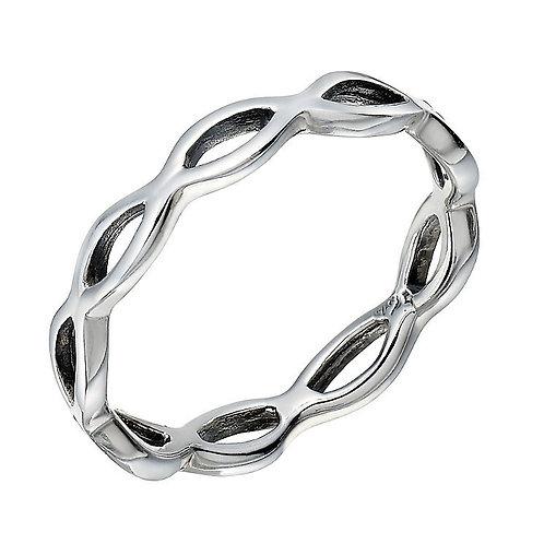 Seodra Sterling Silver Open Weave Ring