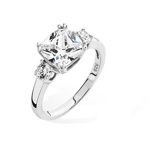 Seodra Silver Cushion Cut Engagement Style Ring