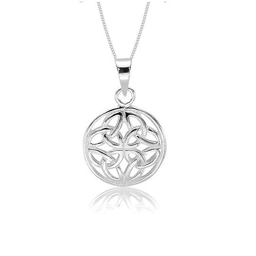 Seodra Sterling Silver Triquetra Knot Necklace