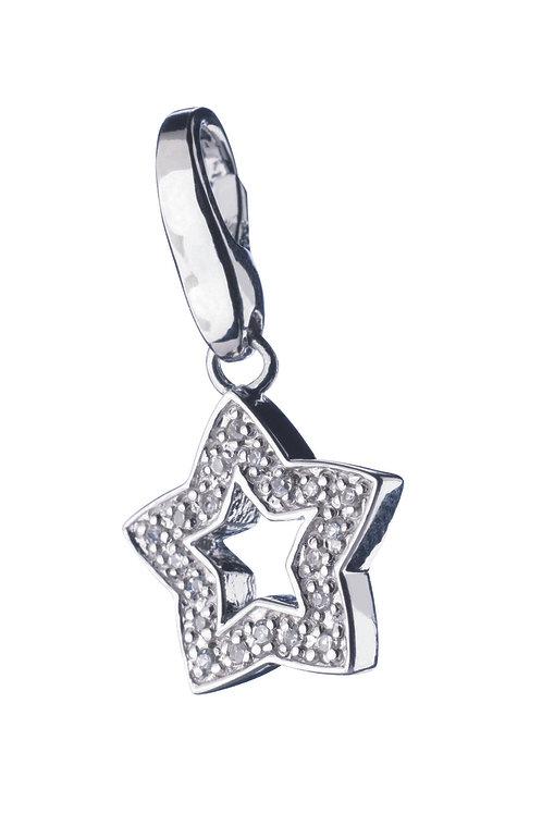 Giorgio Martello Lucky Charms: Sterling Silver CZ Star