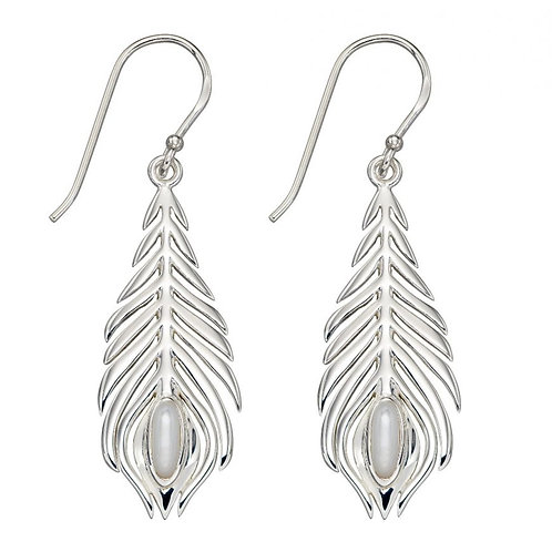 Elements Sterling Silver Peacock Earrings